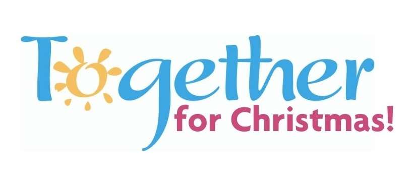 logo with words together for christmas